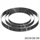 Kreis x3 20/24/28 cm Edelstahl, Silber