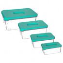 mayorista Casa y cocina: caja rectangular san x4, azul