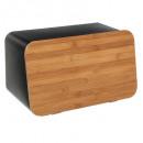 caja de pan + tabla de cortar neo, negro