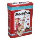 boite metal cereale vintage, 3-fois assorti, coule