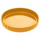 piatto crostata in ceramica 28 giallo, giallo