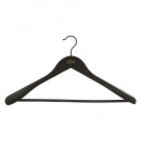 hanger wood rubber jacket black, black