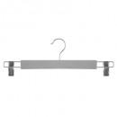 wood hanger metal clamp x2 gray, gray