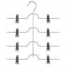 wholesale Manual Tools: metal hanger pvc clip 4 pant, light gray