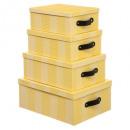 Waffelbox x4 gelb, gelb