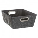 wholesale Barbecue & Accessories: felted bezel basket m gf, dark gray