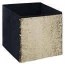 storage box 31x31 sequin black, black