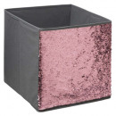 storage box 31x31 sequin gray, gray