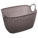 oval basket baltik l gray, gray