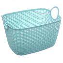 oval basket baltik l blue, blue