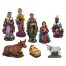 groothandel Speelgoed: santon x 8 resin h20cm accessoires