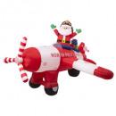 santa inflatable santa claus plane 240 cm