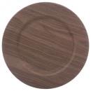 grossiste Maison et cuisine: assiette presentation bois fonce 33cm