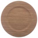 presentación plato madera caliente 33cm