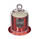 świeca zapachowa ss bell metal czerwony 9cm, 3-kro