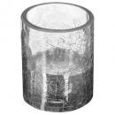 tealight glass cracker h7.5cm ar