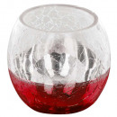 wholesale Drinking Glasses: tealight glass rc craq smoke d8cm rg