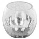 wholesale Drinking Glasses: tealight glass rc craq smoke d8cm ar