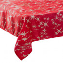 wholesale Table Linen: tablecloth caneva red star 140x360, 2- times assor