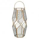 vidrio de candelita hexagonal + latón