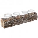 Holz Teelichthalter 4 Tlight 32cm