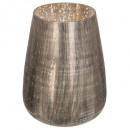 wholesale Drinking Glasses: tealight glass antique mar / gold h22cm