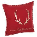 Pillow reindeer wood print 45cm