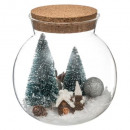 decoration glass jar interior subjects 15cm, 3-fo