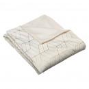 grossiste Coussins & Couvertures: plaid imprimé geom 130x160cm