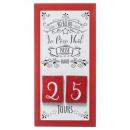 nagyker Dekoráció: függő naptár avent fa 40x20cm