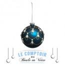 Boże Narodzenie szklane kulki 100mm perłowe, 2-kro