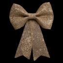 grossiste Plats: décoration noeud strass assiette paillettes or 19x