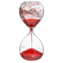 decoration glass hourglass glitter 20cm rg