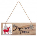 christmas decoration wood sign jn l30cm