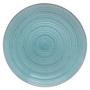 assiette plate nature turquois 28cm