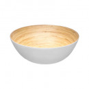 white bamboo salad bowl 25cm