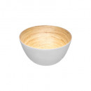 white bamboo salad bowl 17cm