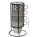 mug sur rack x4 bohemia