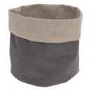 multipurpose basket gray linen, gray