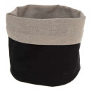 multipurpose basket black linen, black