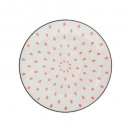 plato postre baoli rosa 19 cm, rosa