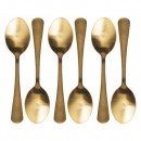 spoon box 6p gold, gold