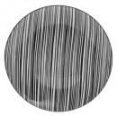 plato plano bohemia cebra 27cm, blanco y negro