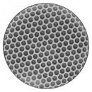 plate bohemia round 27cm, black & white