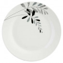 gray floral plate plate 27cm, gray