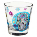 gobeletbas x1 mexico skull 25cl, multicolored
