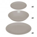 18p colorama servies taupe, taupe