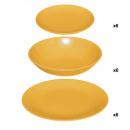 Servicio 18p colorama amarillo, amarillo