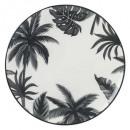 Borden platte jangal 27cm, zwart en wit