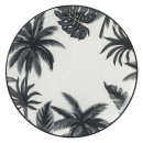 plato jangal plano 27cm, blanco y negro